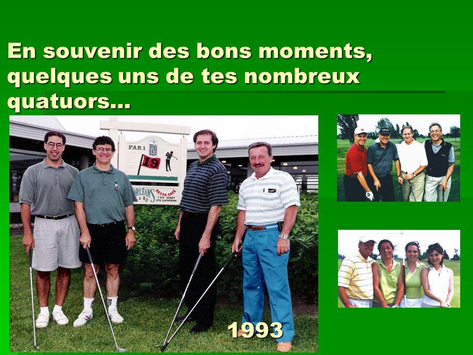 En souvenir des bons moments, quelques uns de tes nombreux quatuors… 1993