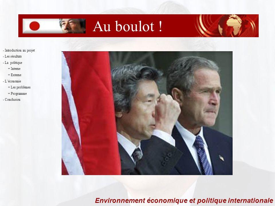 Merci !!. Environnement économique et politique internationale Au boulot .