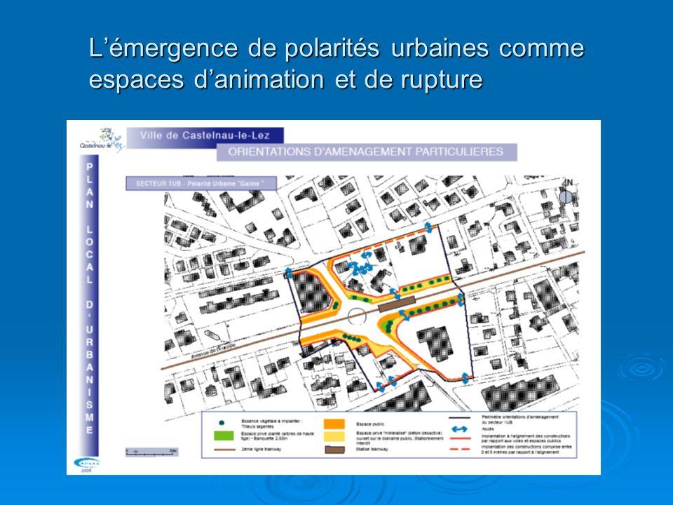 Lémergence de polarités urbaines comme espaces danimation et de rupture
