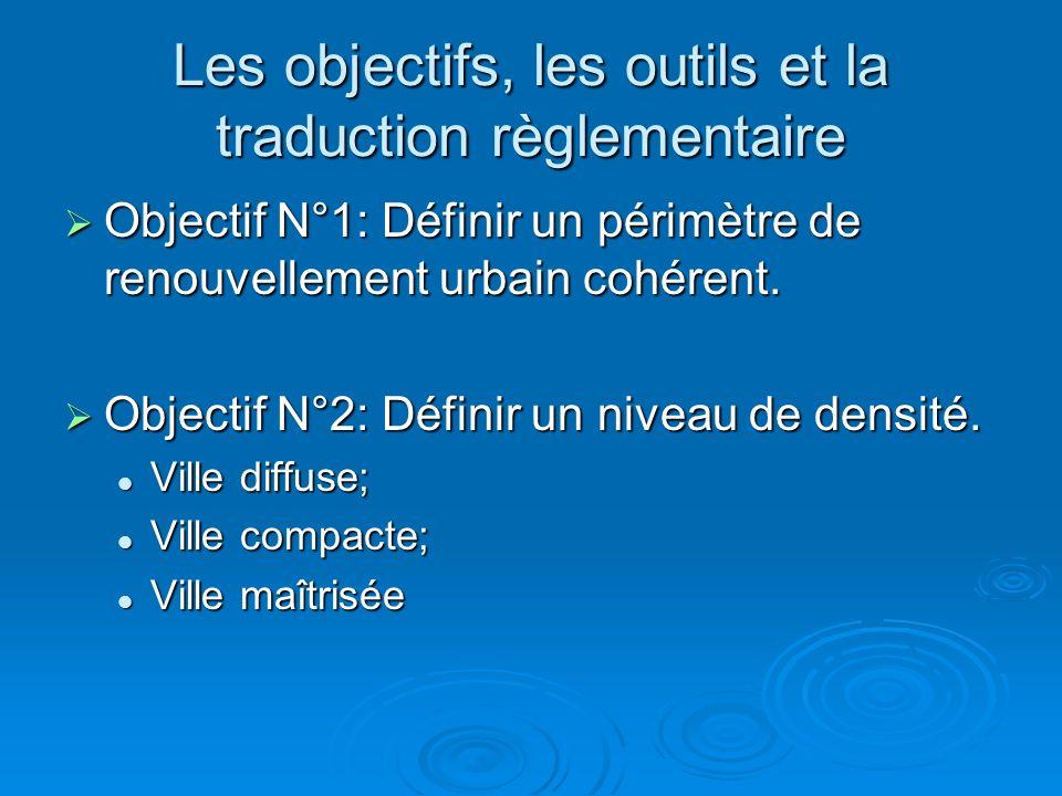 Les objectifs, les outils et la traduction règlementaire Objectif N°1: Définir un périmètre de renouvellement urbain cohérent.