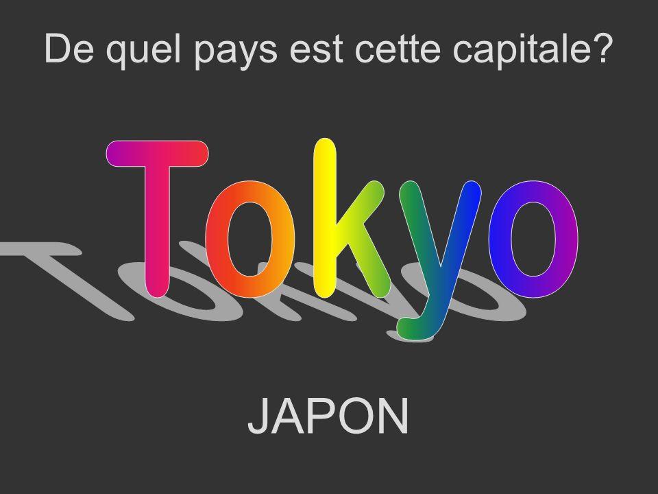 JAPON De quel pays est cette capitale?