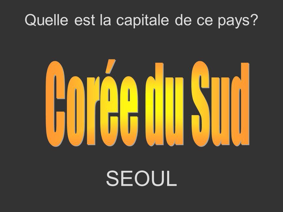 SEOUL Quelle est la capitale de ce pays?