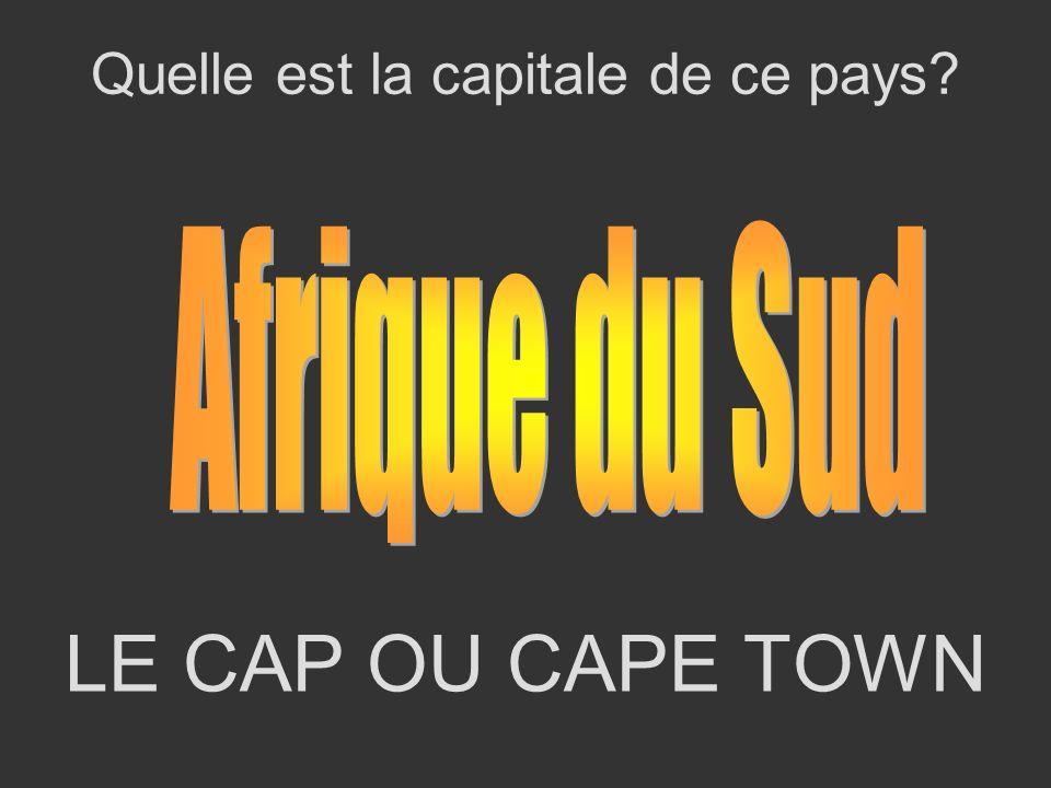LE CAP OU CAPE TOWN Quelle est la capitale de ce pays?