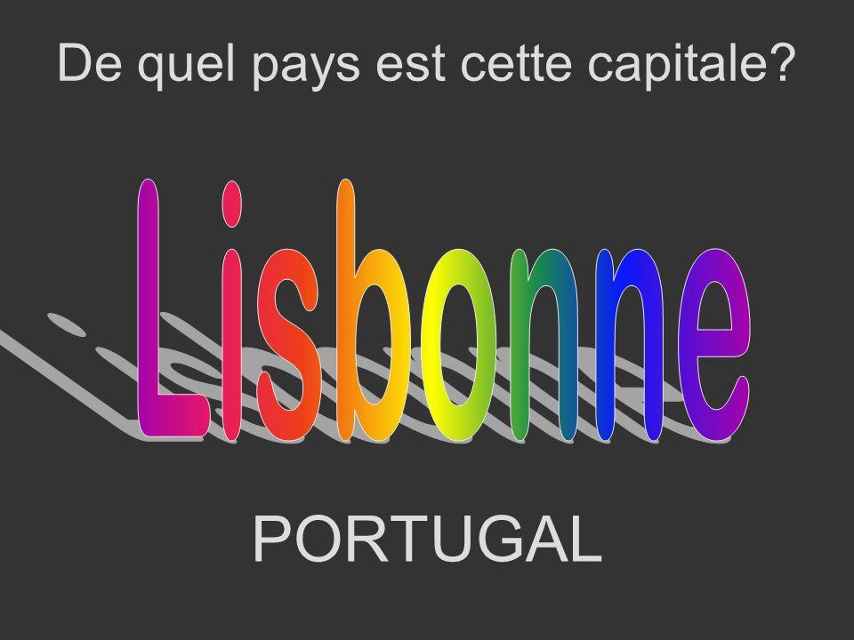 LISBONNE Quelle est la capitale de ce pays?
