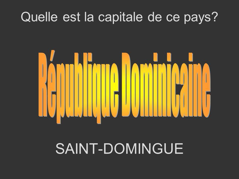 SAINT-DOMINGUE Quelle est la capitale de ce pays?