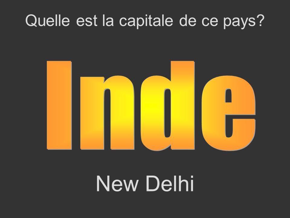 New Delhi Quelle est la capitale de ce pays?