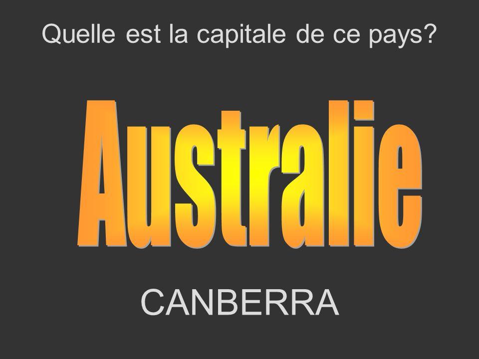 CANBERRA Quelle est la capitale de ce pays?