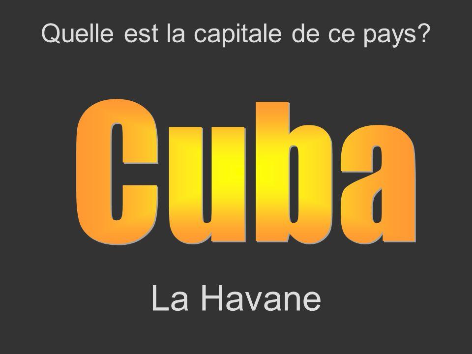 La Havane Quelle est la capitale de ce pays?