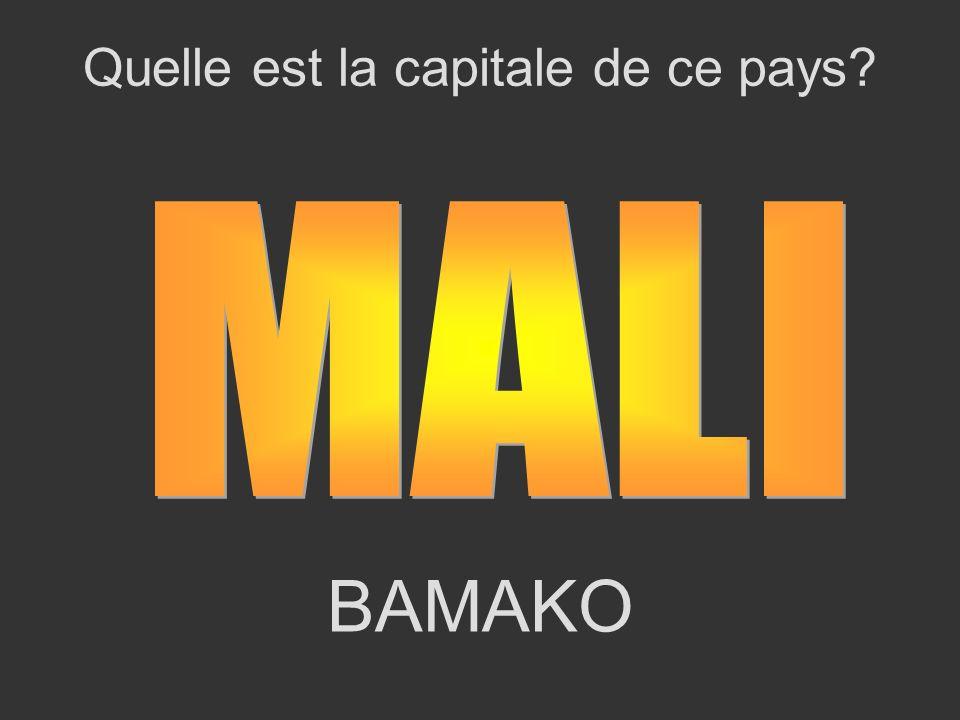 BAMAKO Quelle est la capitale de ce pays?