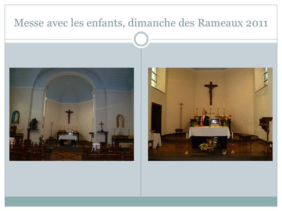 Messe avec les enfants, dimanche des Rameaux 2011