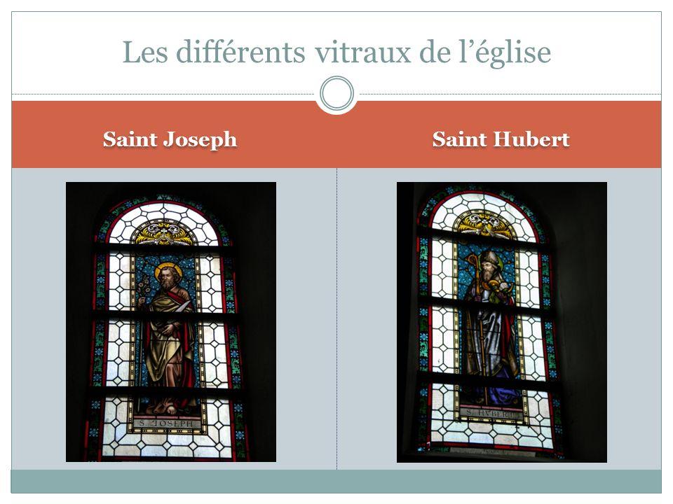 Saint Joseph Saint Hubert Les différents vitraux de léglise