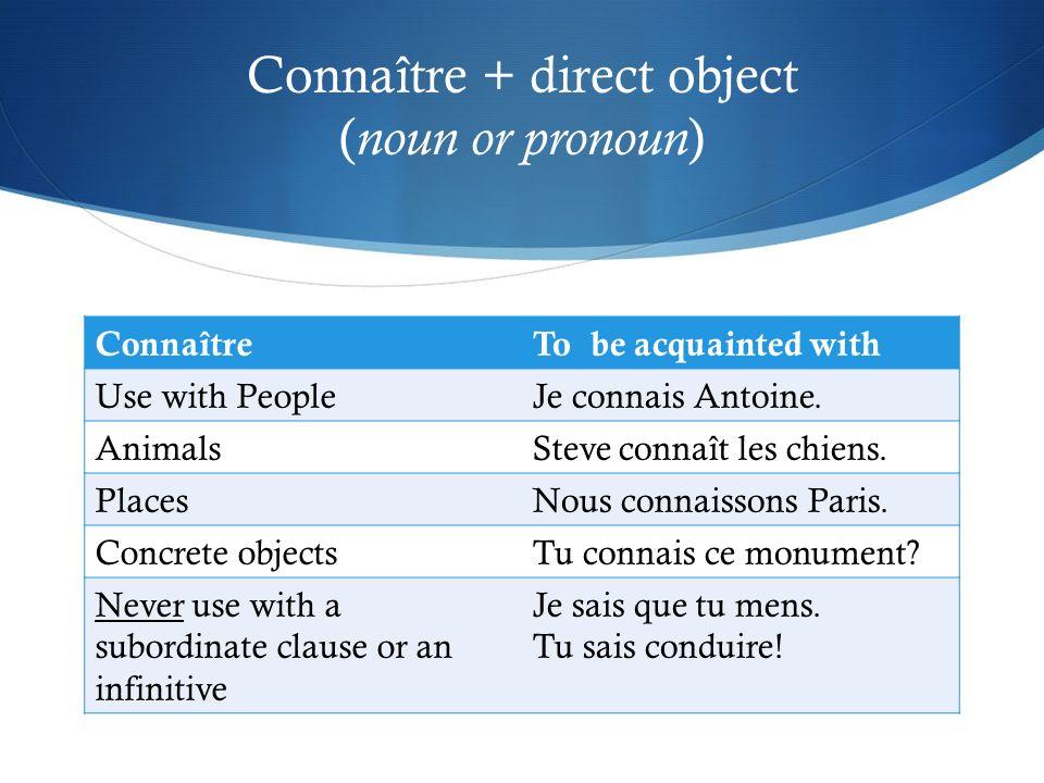 Use connaître when voicing assertions or incomplete knowledge Je connais ton point de vue sur ce sujet.