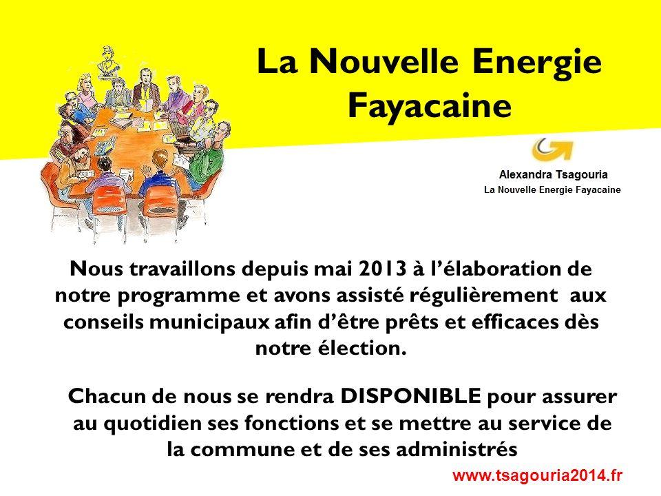 La Nouvelle Energie Fayacaine www.tsagouria2014.fr 1.La gestion des rythmes scolaires et la rénovation des locaux de lécole 2.