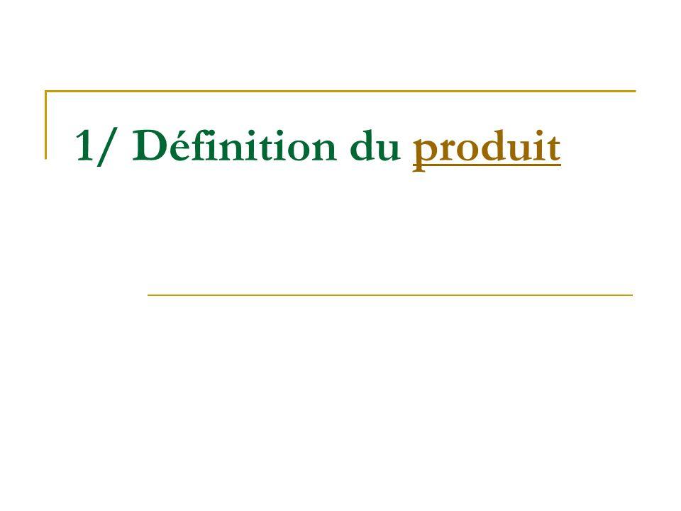 1/ Définition du produit produit