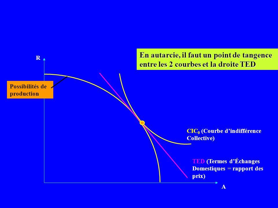 R A CIC 0 TED TEI (Terme d Échange Inter.) Vu le changement des prix relatifs, léconomie produit plus de R CIC 1