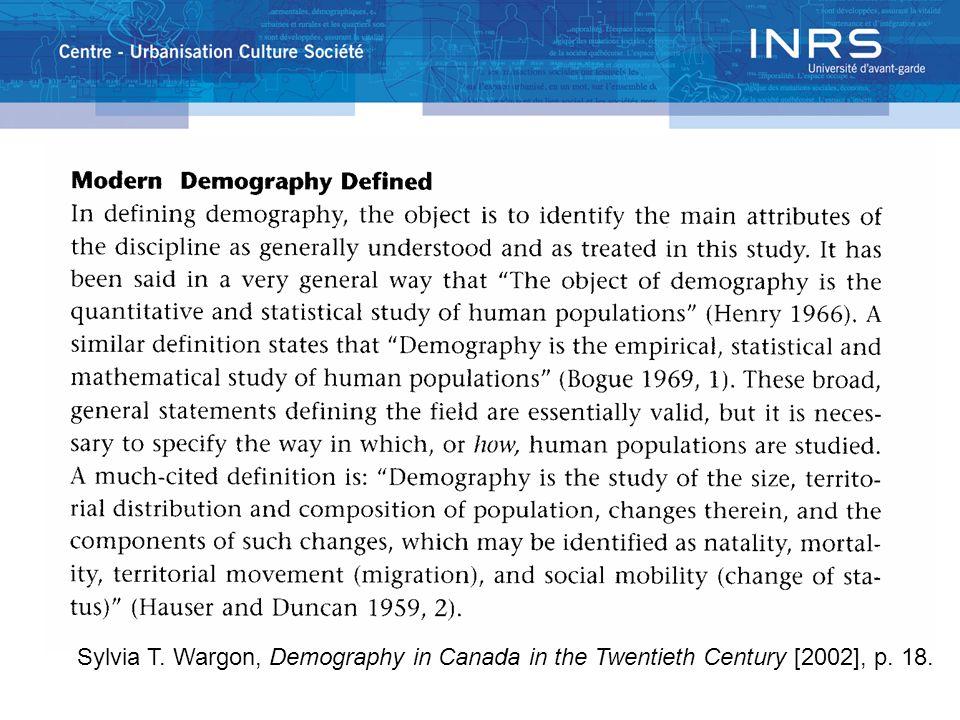 Sylvia T. Wargon, Demography in Canada in the Twentieth Century [2002], p. 18.