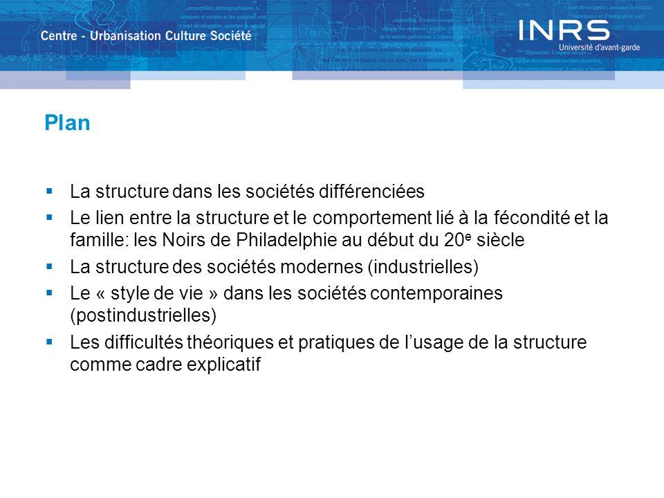 La structure des sociétés modernes Selon Pierre Bourdieu La Distinction, critique sociale du jugement [1979] La société est un espace dont les axes sont le capital économique et le capital culturel.