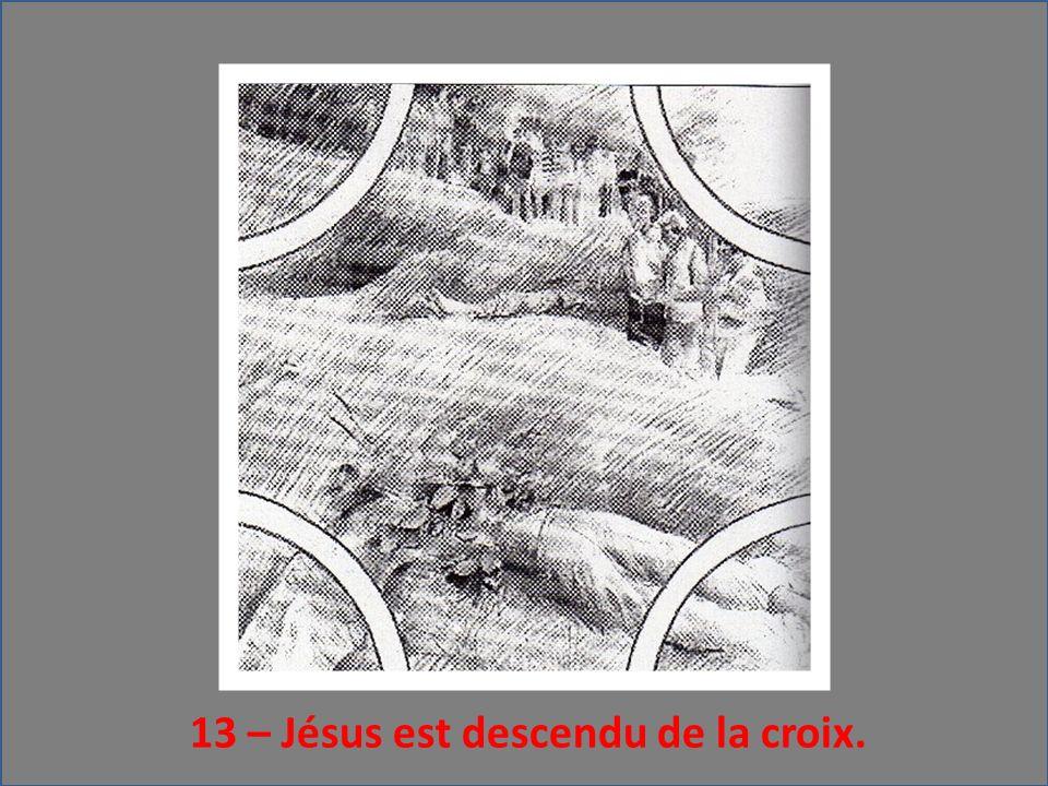 13 – Jésus est descendu de la croix.
