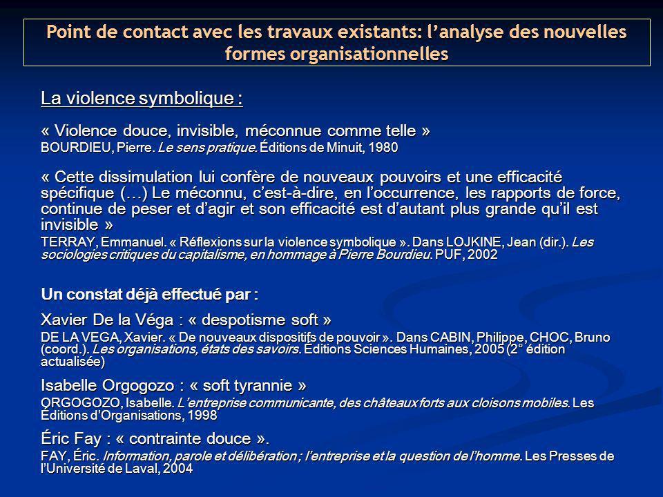 La violence symbolique : « Violence douce, invisible, méconnue comme telle » BOURDIEU, Pierre.