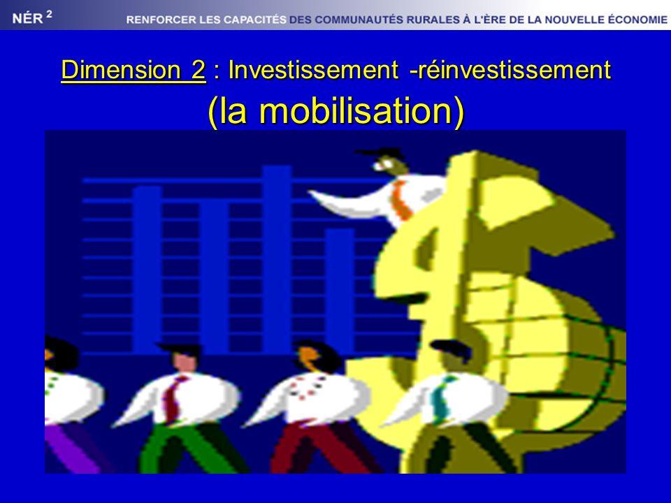 Dimension 2 : Investissement -réinvestissement (la mobilisation)