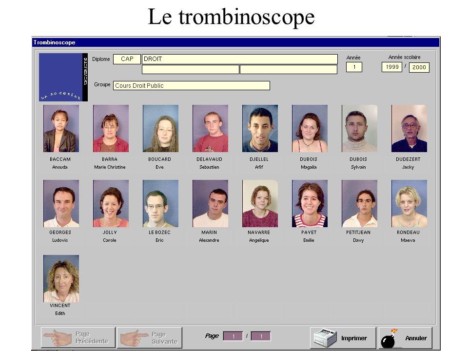 Le trombinoscope