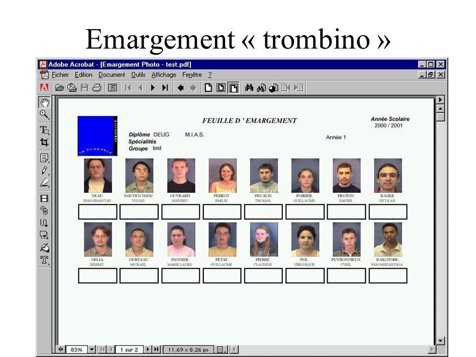 Emargement « trombino »