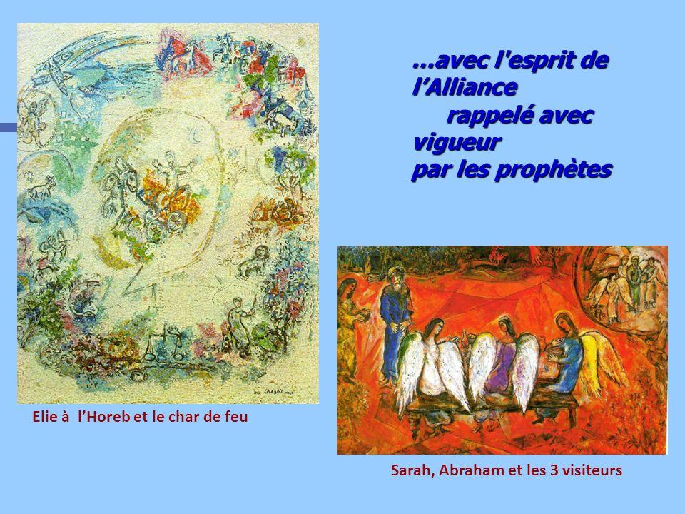 Elie à lHoreb et le char de feu …avec l'esprit de lAlliance rappelé avec vigueur par les prophètes Sarah, Abraham et les 3 visiteurs
