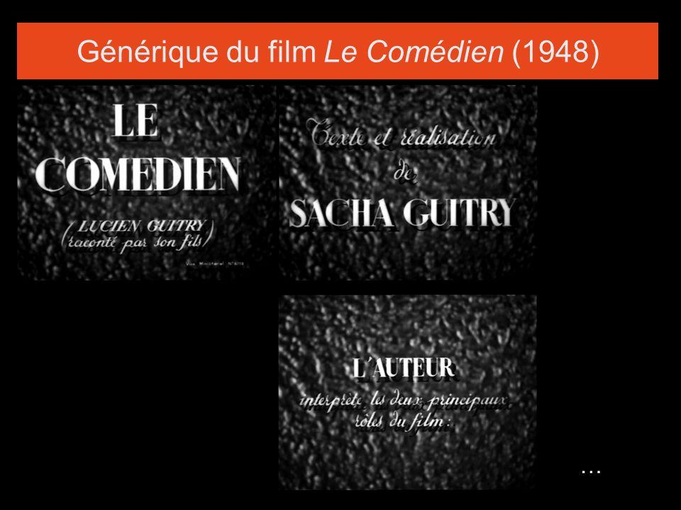 Générique du film Le Comédien (1948) …