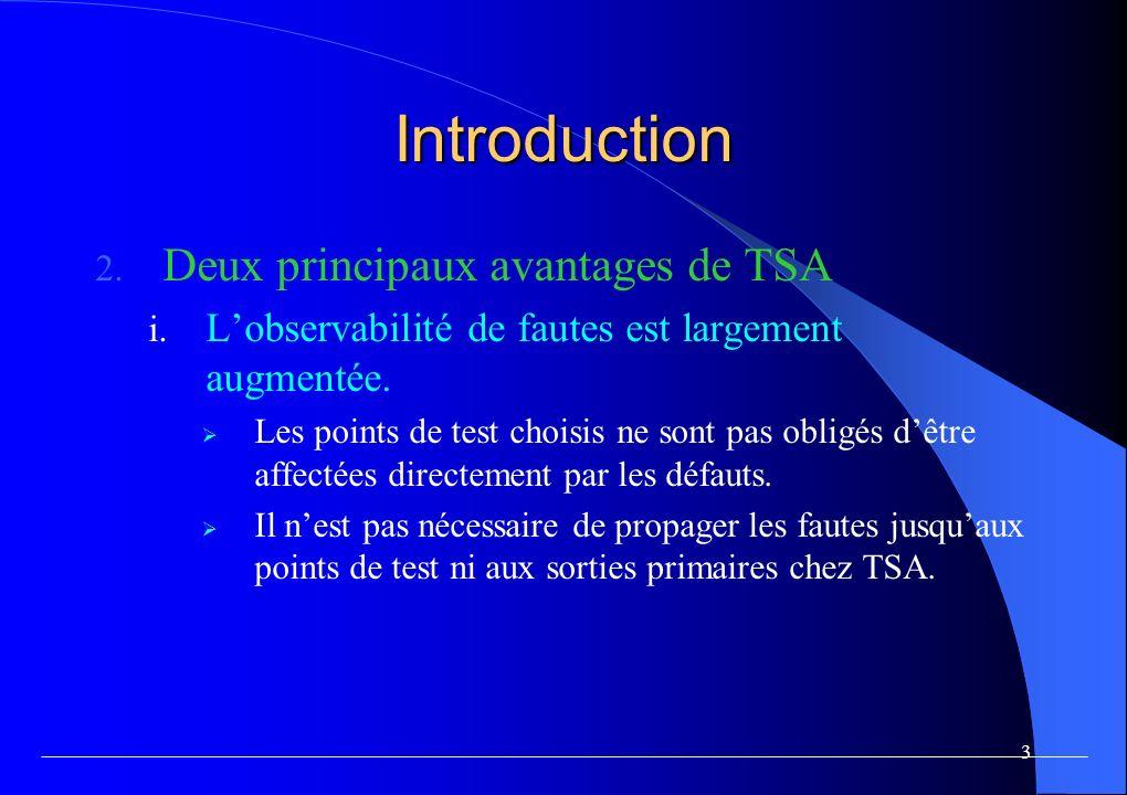 3 Introduction 2.Deux principaux avantages de TSA i.