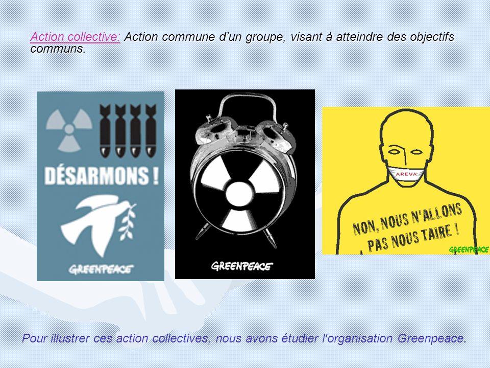 Action commune dun groupe, visant à atteindre des objectifs communs. Action collective: Action commune dun groupe, visant à atteindre des objectifs co
