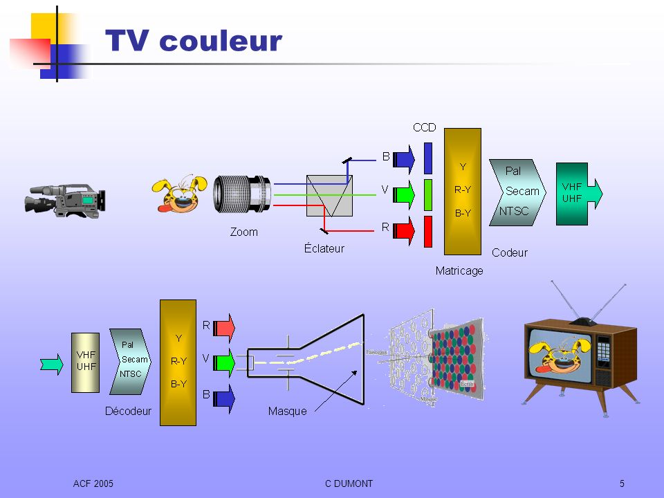 ACF 2005C DUMONT5 TV couleur