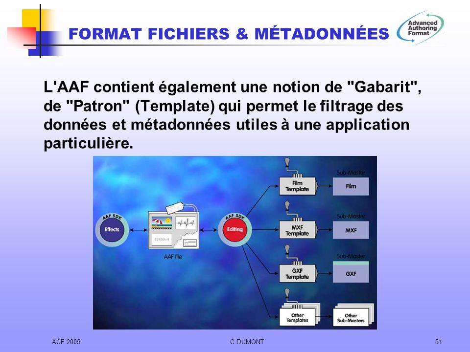 ACF 2005C DUMONT51 L'AAF contient également une notion de