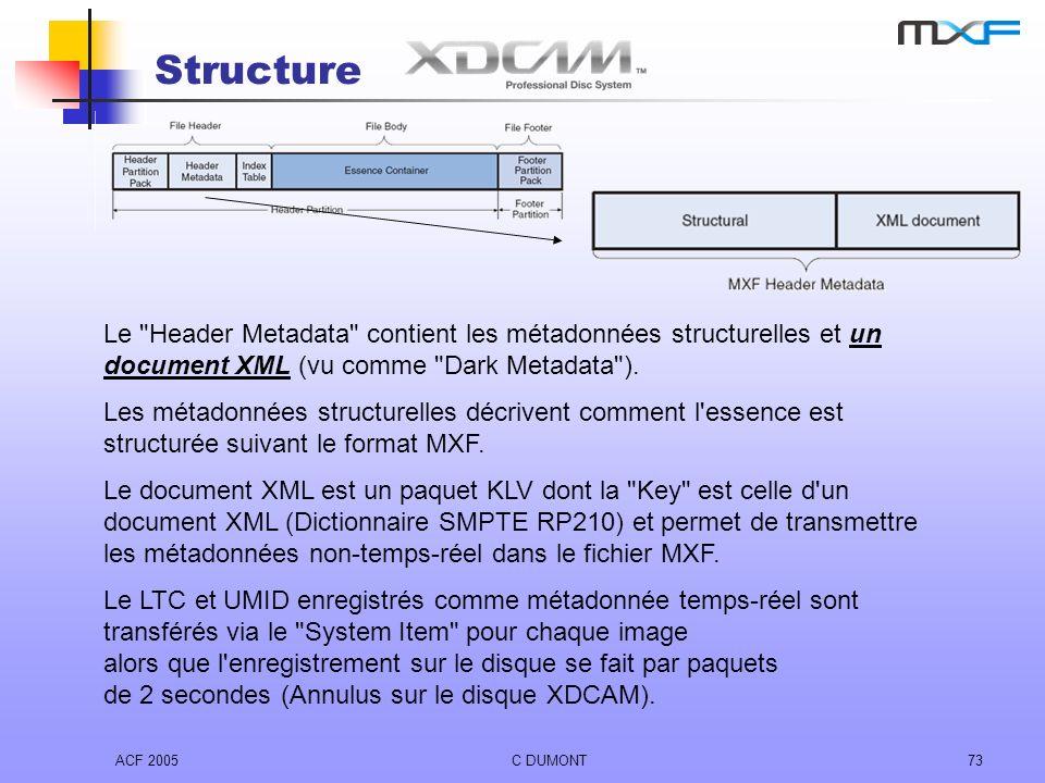 ACF 2005C DUMONT73 Structure Le
