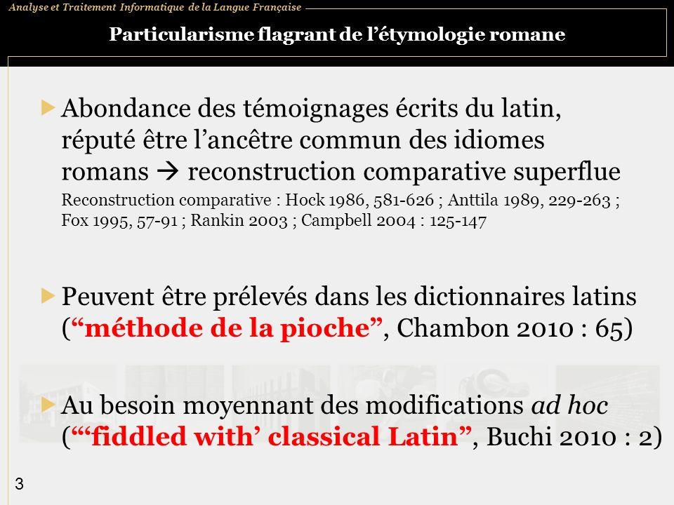 Analyse et Traitement Informatique de la Langue Française 14 Plan 1.