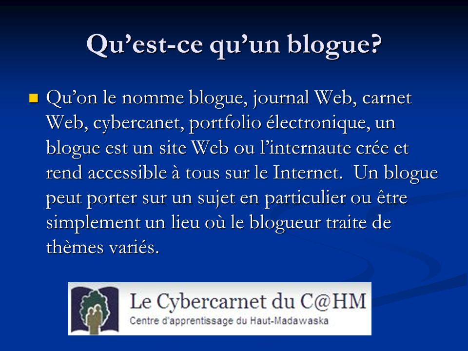 Quest-ce quun blogue.