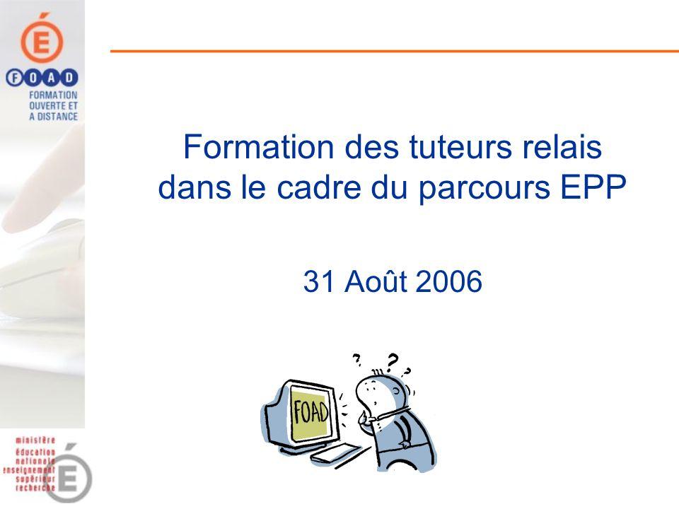 Formation des tuteurs relais dans le cadre du parcours EPP 31 Août 2006