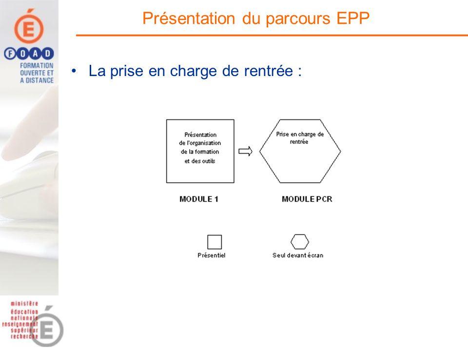 Présentation du parcours EPP La prise en charge de rentrée :