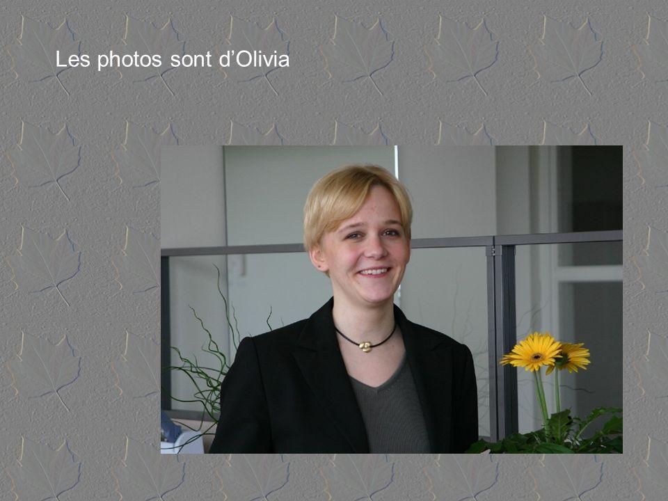 Les photos sont dOlivia