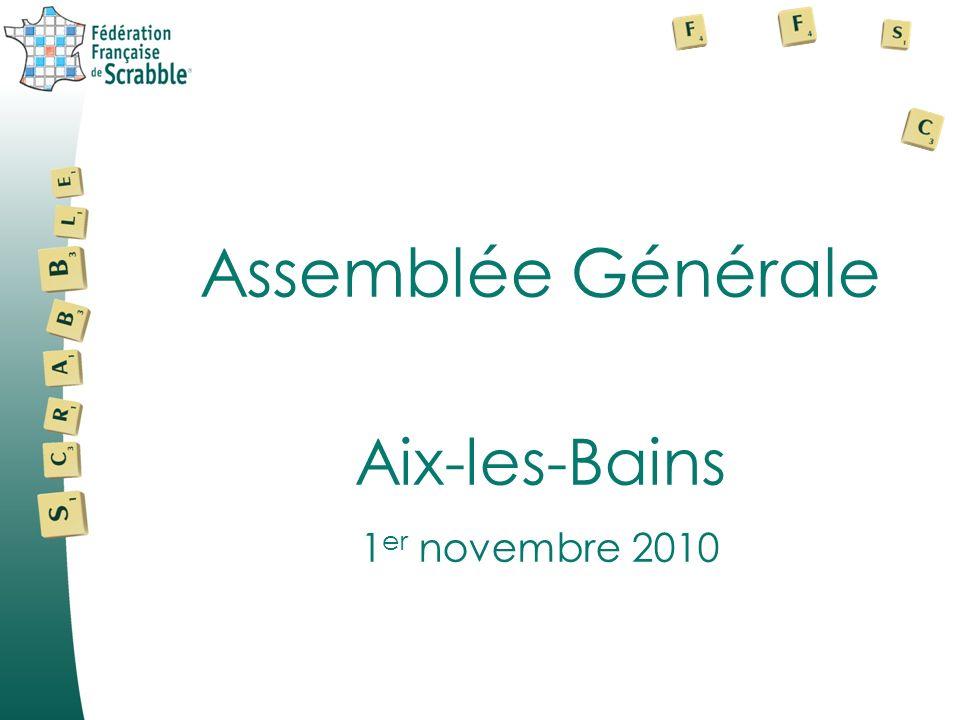 Assemblée Générale Aix-les-Bains 1 er novembre 2010