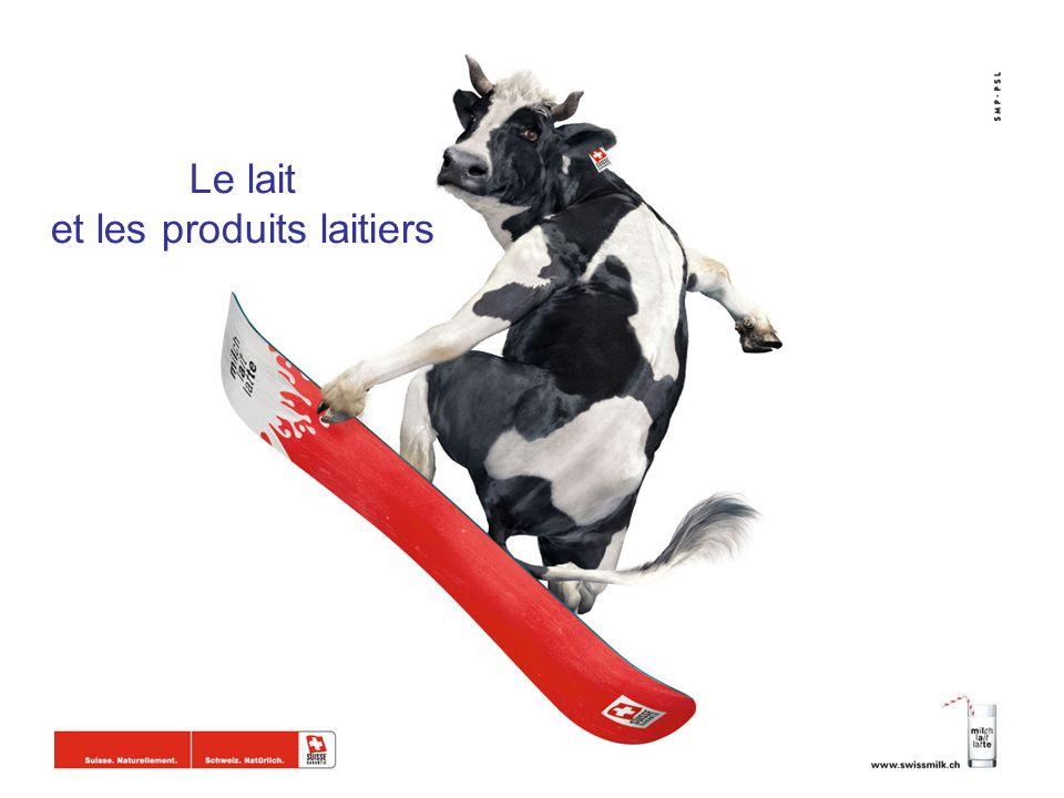 Le lait et les produits laitiers