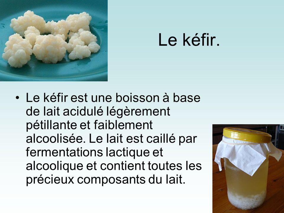Yaourt Le yogourt et le lait acidulé sont à base de lait épaissi par laction des bactéries lactiques, dont il existe une grande variété. Les produits