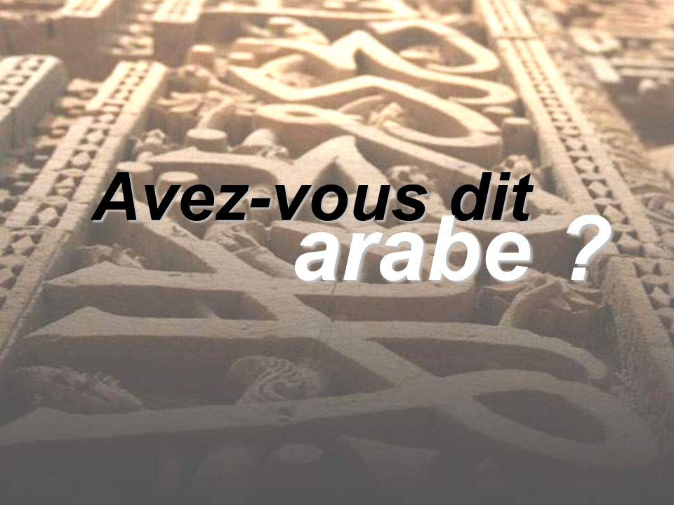 Avez-vous dit arabe