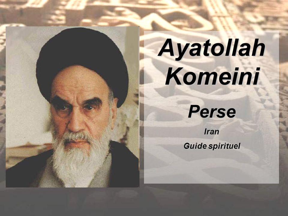 Ayatollah Komeini PerseIran Guide spirituel