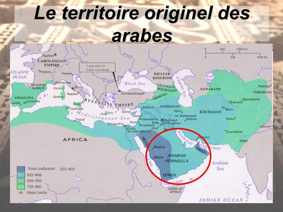 Le territoire originel des arabes