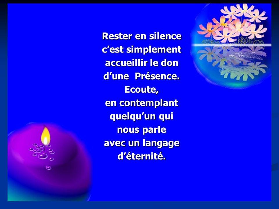 Sainte Marie, femme du silence, reconduis-nous aux sources de la paix.