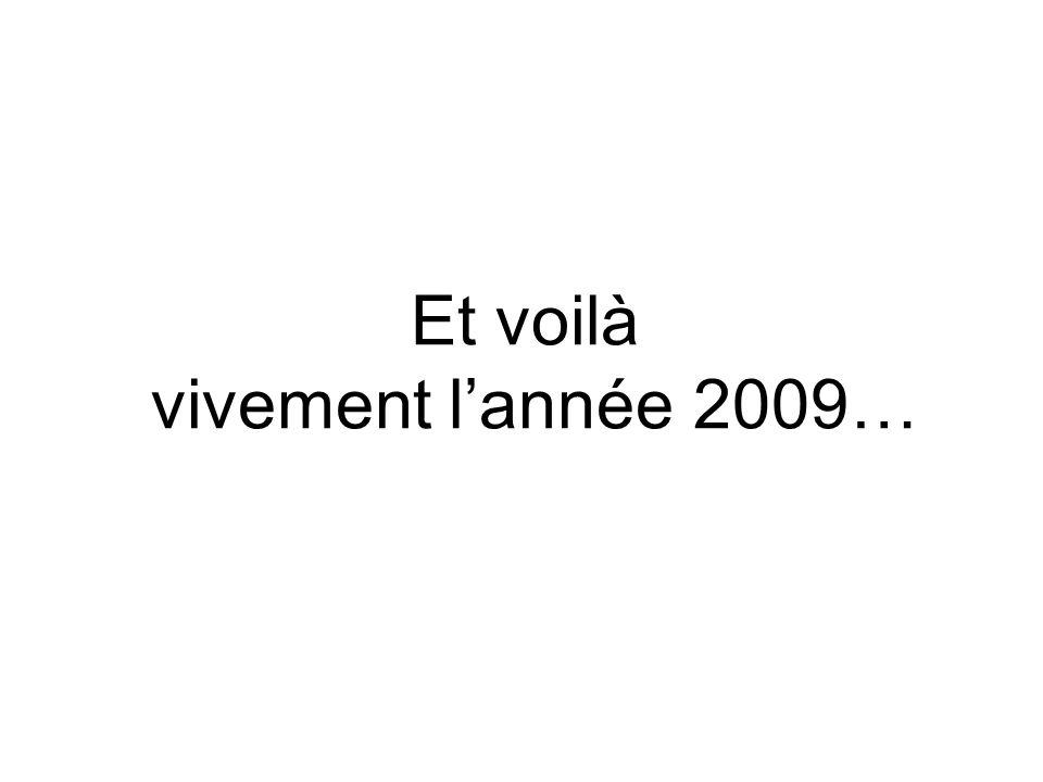 Et voilà vivement lannée 2009…