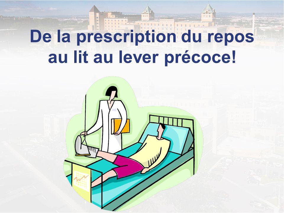 De la prescription du repos au lit au lever précoce!