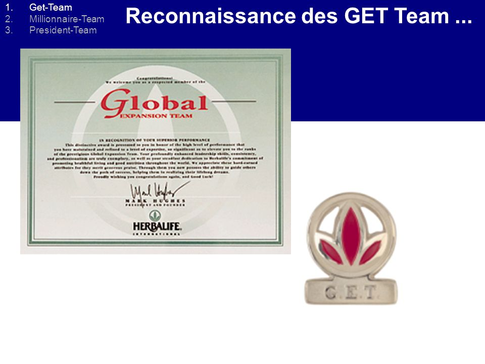 Reconnaissance des GET Team... 1.Get-Team 2.Millionnaire-Team 3.President-Team