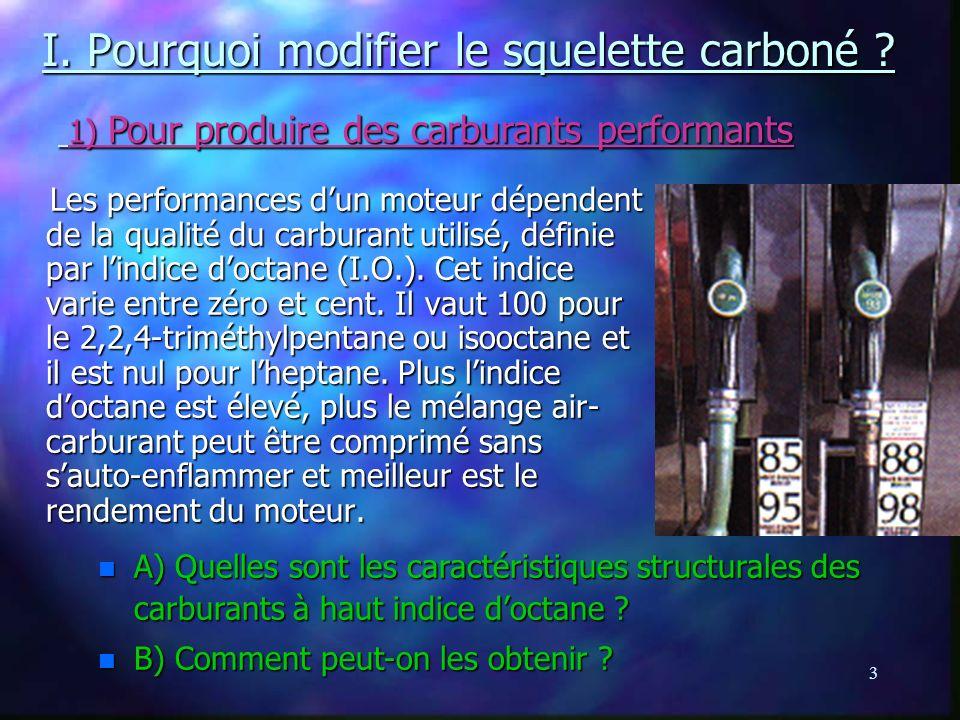 3 I.Pourquoi modifier le squelette carboné .