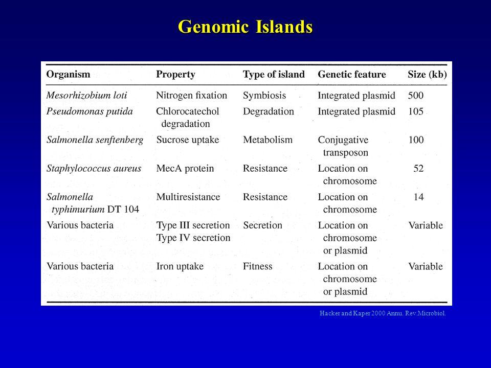 int : gènes dintégrase ; vir : gènes de virulence ; mob : gènes de mobilisation E.
